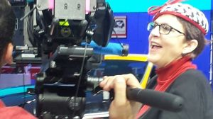 The Unflappable Jean Jennings at her best...on camera! Detroit Auto Show 2014